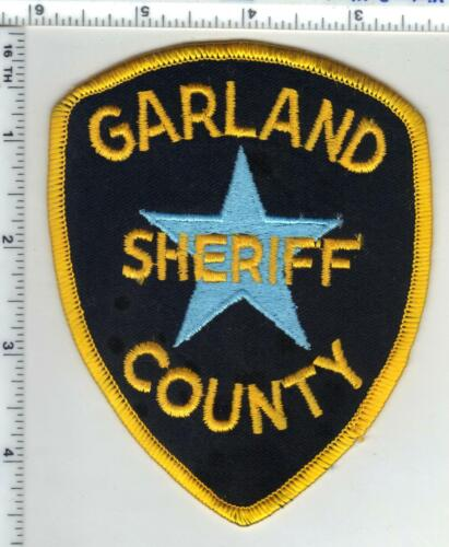 Garland County Sheriff (Arkansas) 1st Issue Black Background Shoulder Patch
