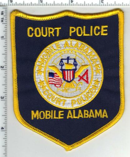 Mobile Court Police (Alabama) Shoulder Patch from 1980