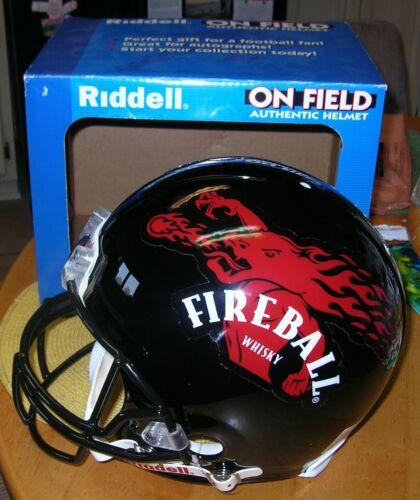 Rare Brand New Fireball Cinnamon Whiskey Riddell Football Helmet with the Box