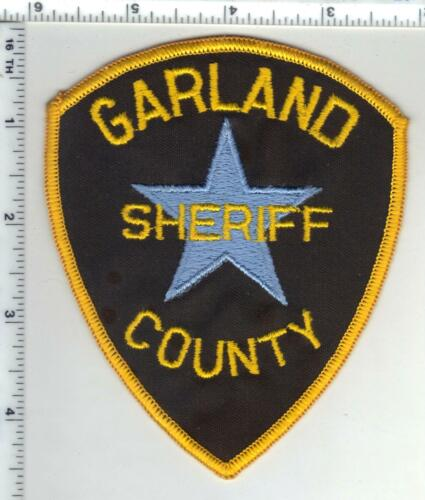 Garland County Sheriff (Arkansas) 1st Issue Brown Background Shoulder Patch