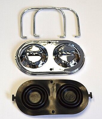 (1967-1982 Corvette Master Cylinder Cover Chrome w/ Bails & Gaskets Ready to Ship)