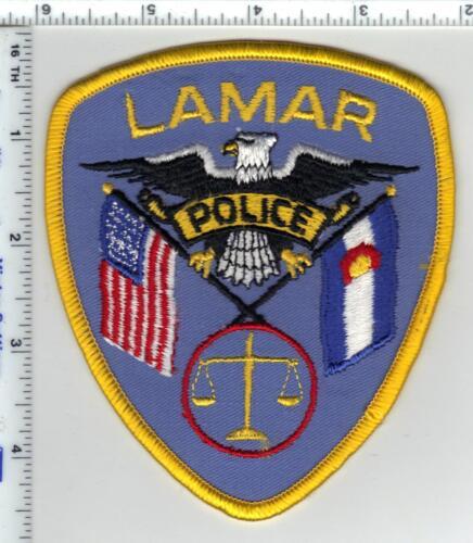 Lamar Police (Colorado) 3rd Issue Uniform Take-Off Shoulder Patch