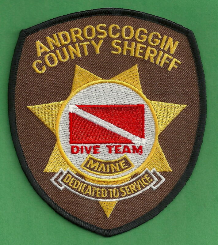 ANDROSCOGGIN COUNTY SHERIFF MAINE DIVE TEAM SHOULDER PATCH