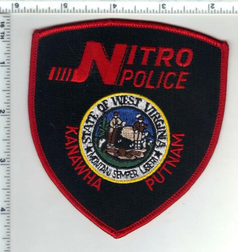 Nitro Police (West Virginia) 1st Issue  Shoulder Patch - Red Version