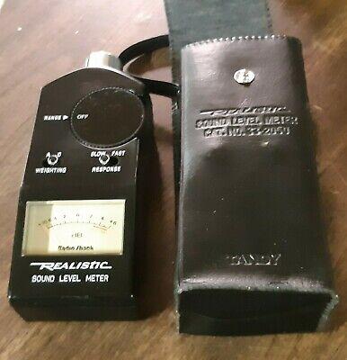 Vintage Realistic Sound Level Meter 33-2050 Radio Shack W Case 1989 Mint Korea