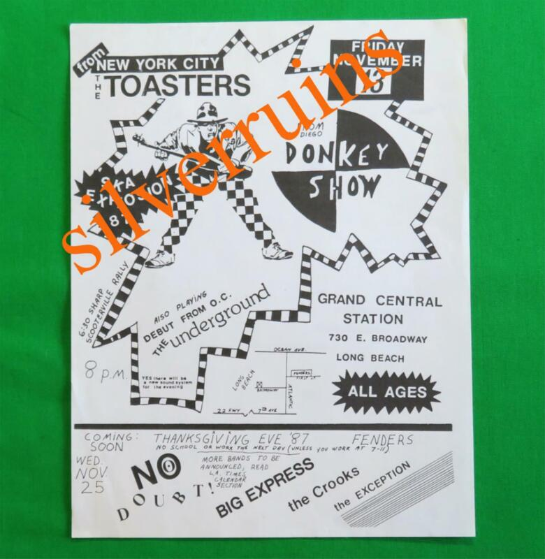 Ska Explosion 1987 Original Show Flyer Long Beach The Toasters No Doubt Fenders