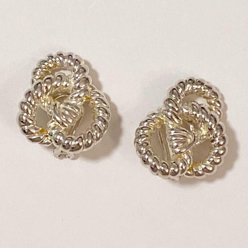 Angela Cummings AC Studio Sterling Silver Knot Rope Earrings
