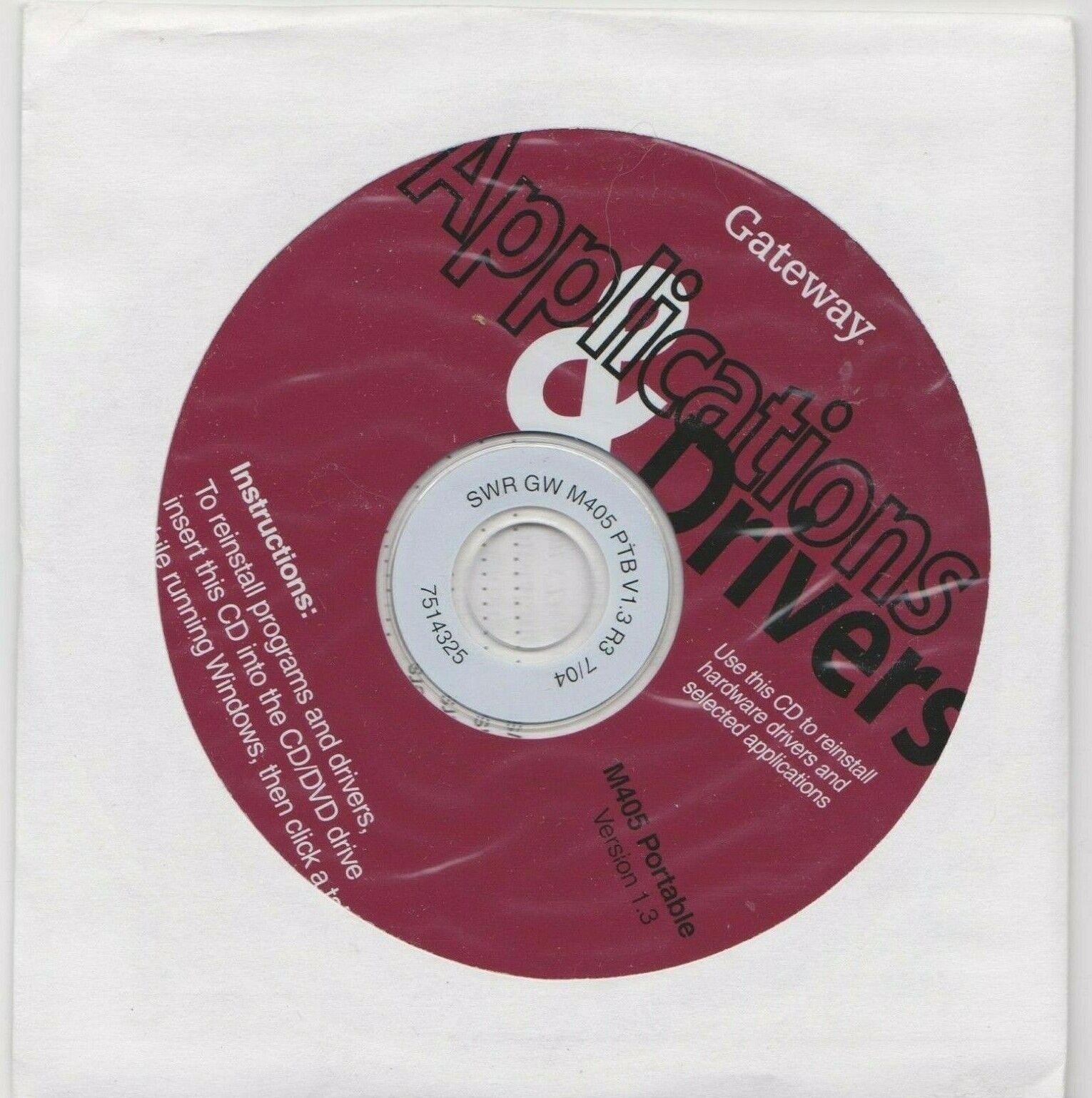 Gateway Application & Drivers M405 Series CD V1.3 7514325 Sealed