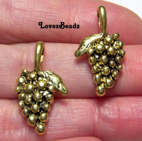 15 Gold 3-d Grape Bunch Charms-Wine Lovers-Vineyard-$30 ORDERS SHIP FOR FREE