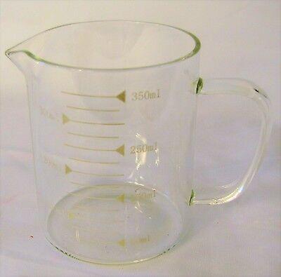 Borosilicate glass beaker with handle tea coffee mug cup cover science geek gift - Science Cup