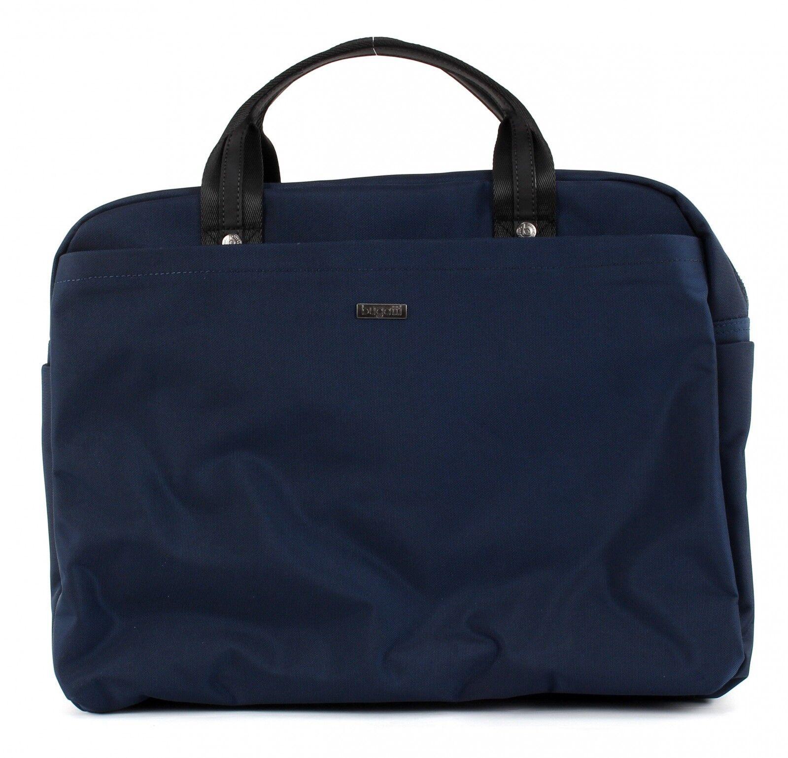 17f09ef68afea3 bugatti Contratempo Business Bag Large Umhängetasche Aktentasche Herren Blau  Neu фото