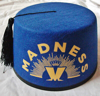 MADNESS - OFFICIAL FEZ HAT - BLUE 2016 DESIGN - SUGGS SKA TWO 2 TONE CD STIFF LP