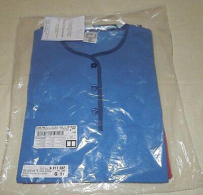 2 Pack Nachthemd (2 Damen Nachthemden 2er Pack blau und rot 100 % Baumwolle Gr. 38 Neuwertig)