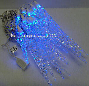 20-LARGE-BLUE-ICICLE-OUTDOOR-CHRISTMAS-LED-LIGHTS-DRIPPING-ICE-HOLIDAY-XMAS-BULB