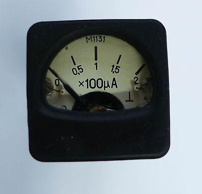 Micro Ampermeter 200 Ua 1 Item Cccp Ussr Soviet Union Military