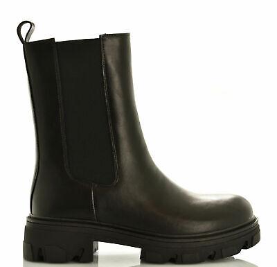 Chelsea alti scarpe donna stivali bassi biker boots stivaletti elastico anfibi