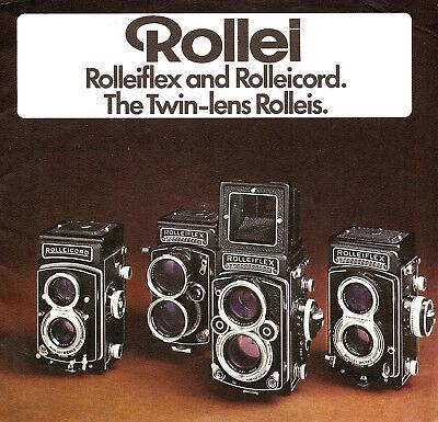 Инструкции и руководства 1976 ROLLEI ROLLEIFLEX