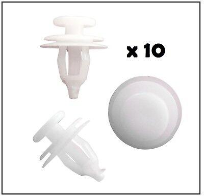 10X Exterior Door Moulding Trim Clips FOR Citroen Saxo Xsara 856535