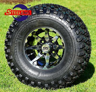 "GOLF CART 10"" VORTEX WHEELS/RIMS and 22x11-10 ALL TERRAIN TIRES (SET OF 4)"