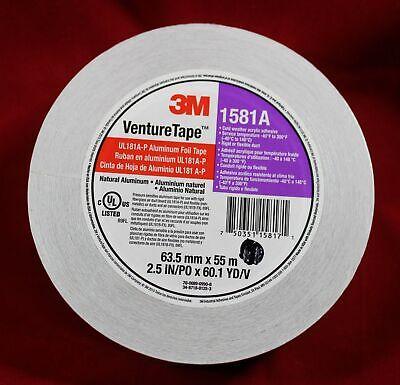 3m Venturetape-1581a Hvc Aluminium Foil Duct Tape 2.5 In X 60.1 Yd Duct Board