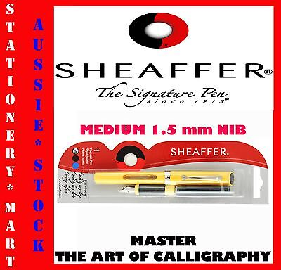 SHEAFFER◉CLASSIC CALLIGRAPHY FOUNTAIN PEN◉STARTER KIT◉1 MEDIUM NIB ◉2 CARTRIDGE◉