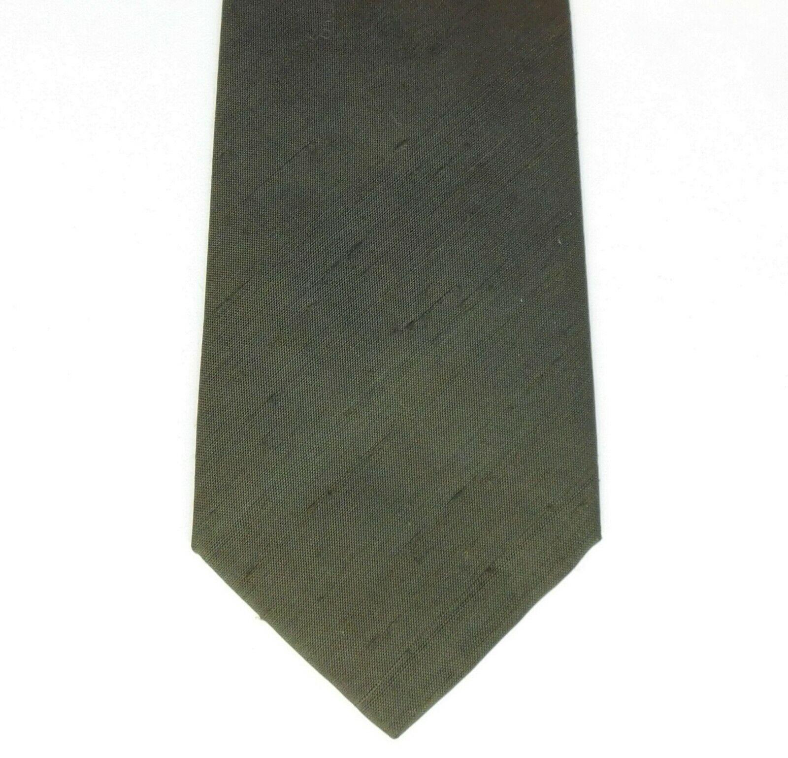 Green textured silk tie NEW made in Belgium Jose Piscador pure silk