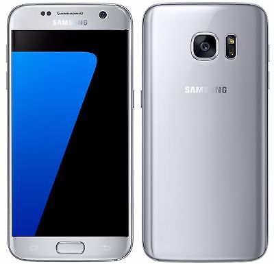 Samsung Galaxy S7 SM-G930V RAM 4GB+32GB Argenté Désimlocké Smartphone 5.1