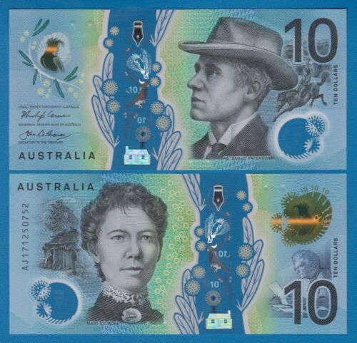 Australia 10 Dollars P 63 2017 New UNC Polymer note Low Shipping! Combine FREE!