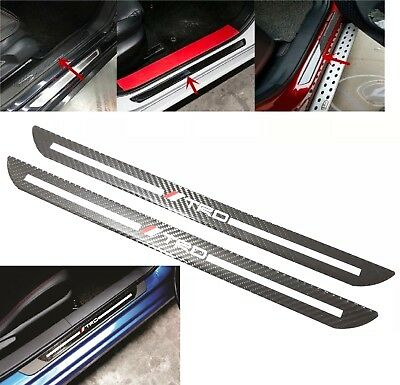 2Pcs TRD Carbon Car Door Scuff Sill Cover Plates Panel Step Protector Sticker](Door Cover)