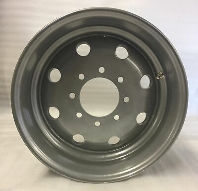 17.5 Inch 8 on 6.5 Silver Modular Steel Trailer Wheel  6005 lbs Weight Rating