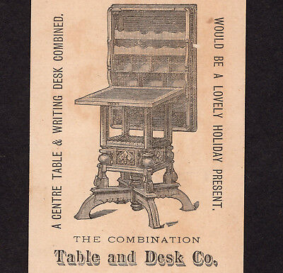Moore Writing Desk 1880's Combination Table and Desk Co. NY Victorian Trade Card