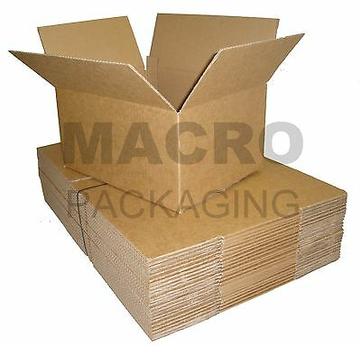 200 Cardboard Packing Postal Boxes Cartons 18 x 12 x 7