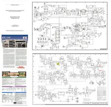TEN-TEC RX-340 PHOTOCOPY TECHNICAL MANUAL w/ 11x17