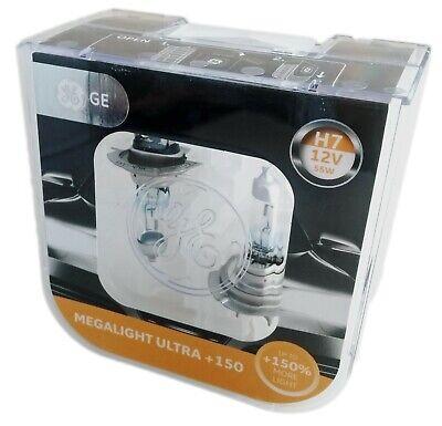 H7 GE Mega Light Ultra +150 2er Pack General Electric 58520NXNU 250 Night Vision
