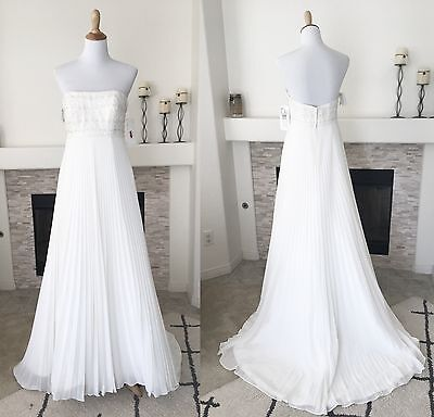 Wedding Dress Strapless Ivory Sweetheart Galina Signature Davids Bridal Size 8