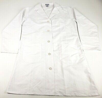 Medline Healthcare MDT11WHT12E Ladies Staff Length Lab Coat, Size 12, White Staff Lab Coat