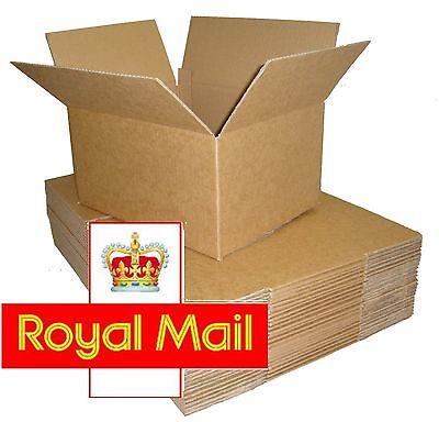 25 Postal Cardboard Boxes 13.5x9.5x5.5