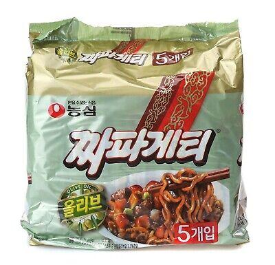 NONGSHIM Chapagetti 140g*5ea Jajang Noodle Black Bean Sauce Korea Lamen K-Food