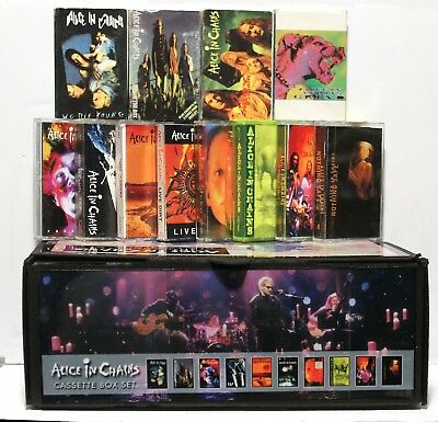 ALICE IN CHAINS - 12 used cassette lot custom box set