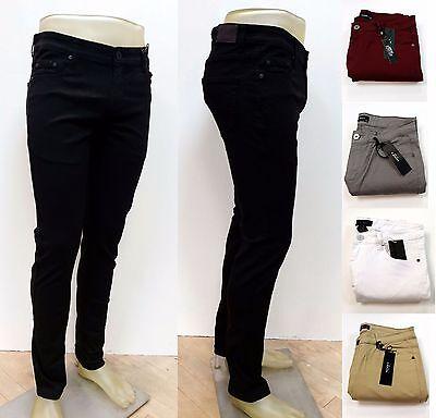Kayden K. Men's Twill Denim Stretch Skinny Fit Jeans