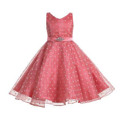 - Organza Polka Dot Flower Girl Dress Pageant Dresses Graduation Dress Bridesmaid