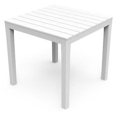 Gartentisch Weiss Beistelltisch Garten Holz Tisch