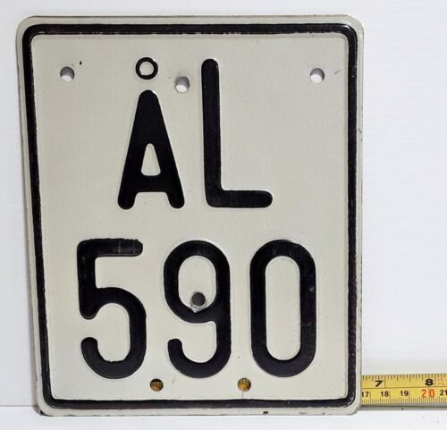 ÅLAND ISLANDS - 1980s vintage motorcycle license plate - rare example, htf