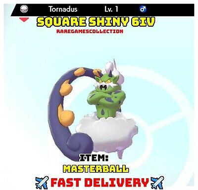 Pokemon Sword Shield ✨ SHINY ✨ 1 LEVEL TORNANDUS MASTERBALL 6IV FAST DELIVERY