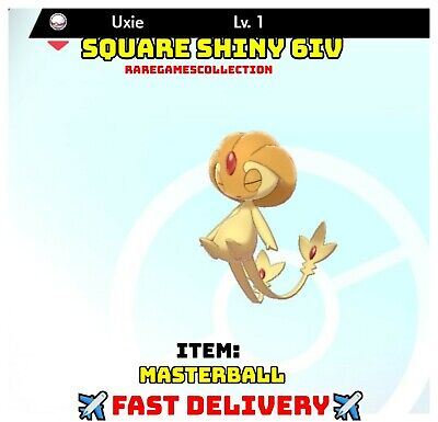 Pokemon Sword Shield ✨ SHINY ✨ 1 LEVEL UXIE MASTERBALL 6IV FAST DELIVERY