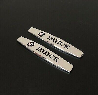 Buick Skyhawk Car - 2Pcs BUICK Chrome Metal Car Trunk Side Fenders Door Emblem Badge Decal Sticker