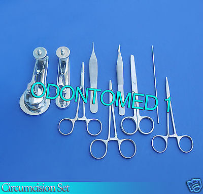 Circumcision Set Cw 2 Gomco Style Clamp 1.9cm3.5cm Ss 6 Ss Instruments