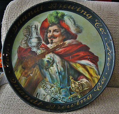 """(PRE-PRO) QUANDT BEER BREWING CO 12"""" METAL - TIN LITHO TRAY TROY NY NEW YORK"""