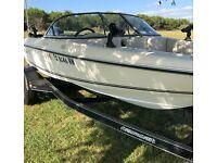 "1995 OMC Sunbird 15'4"" Bowrider & Trailer - Texas"