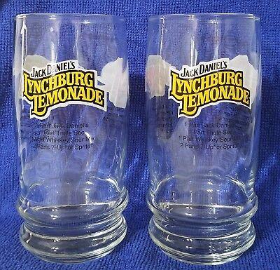2 Jack Daniels Lynchburg Lemonade Tennessee Tea Downhome Punch Recipe Glasses - Lemonade Punch Recipe